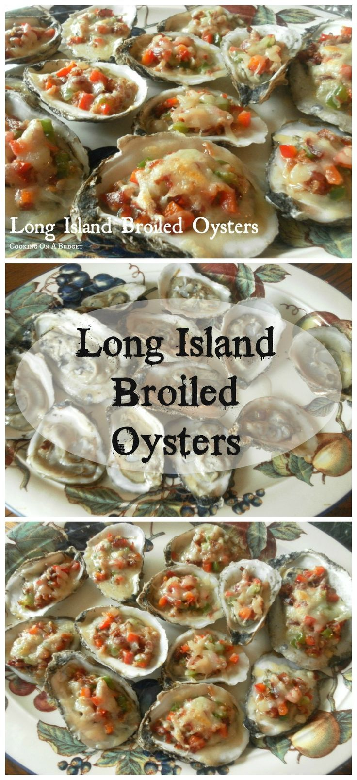 Long Island Broiled Oysters ~ this is a fantastic recipe for those that love oysters! It will be a phenomenal addition to any party or picnic you are having.