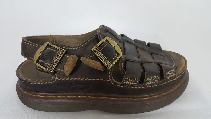 DR MARTENS Womens Shoes Air Wair Fisherman Sandals Brown Leather England US 8 #DrMartens #Strappy