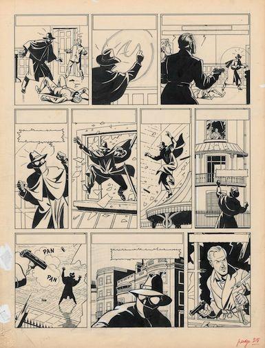 Planche originale de La Marque Jaune de Edgar. P Jacobs