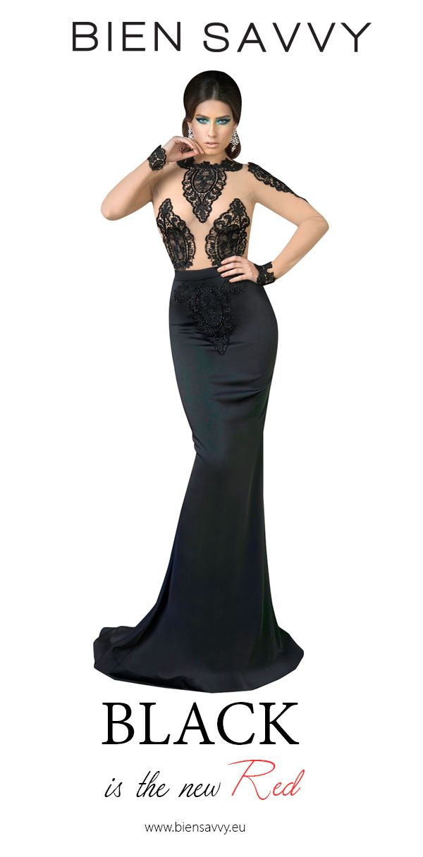Black is the new Red.  Follow Your Dream, black evening dress by BIEN SAVVY
