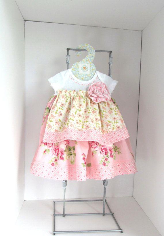 Shabby Chic baby dress NB by saraannas on Etsy, $28.00
