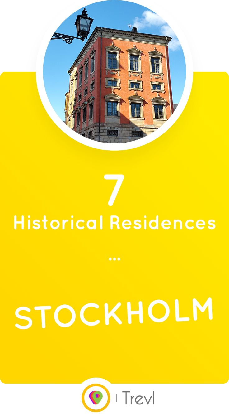 For all fans of historical architecture, especially palaces. These are the 7 most beautiful historical private residences you can see in Stockholm, Sweden