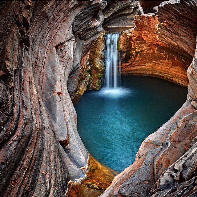 Le parc national de Karijini se situe au coeur des monts Hamersley dans la région aride de Pilbara, au Nord Ouest de l'Australie occidentale.  Crédit photo :&n