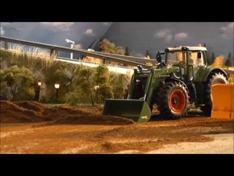 n' bisschen baggern 4 - Holz verladen - RC Revell Liebherr Bagger L900+ Siku Control John Deere 1/32 - YouTube