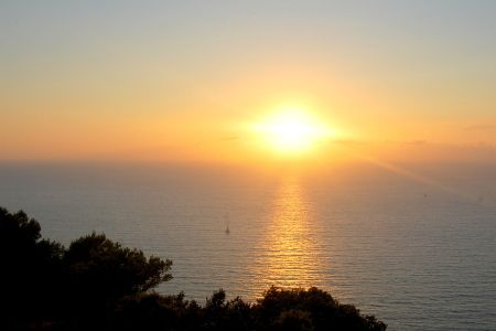Sunset from Populonia castle.