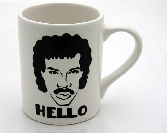 lionel ritchie mug.  etsy.Modern House Design, Lionel Richie, Gift Ideas, Design Interiors, Home Interiors Design, Mornings Coffe, Teas You R, Modern Interiors, Design Home