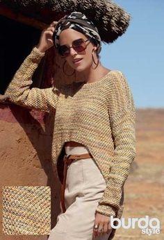 Асимметричный пуловер - схема вязания спицами. Вяжем Пуловеры на Verena.ru