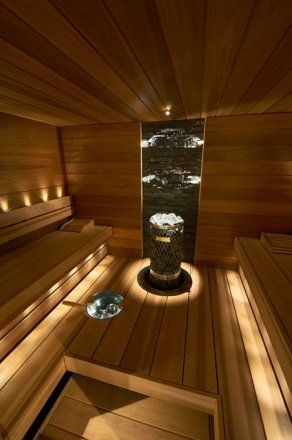 Love the lighting,love the design,love the sauna.