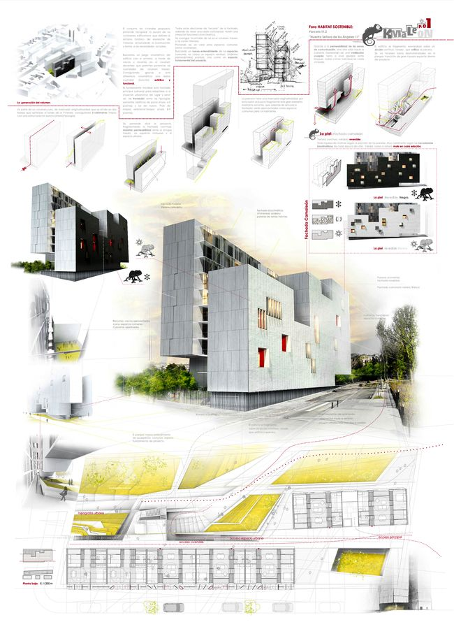 """SECOND RUNNER (out of 286 proposals). Competition """"Sustainable Habitat Forum"""" sponsored by the EMVS. 