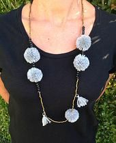 Pom Pom Necklace. Comes in Green too @ find found forage. AUD$15