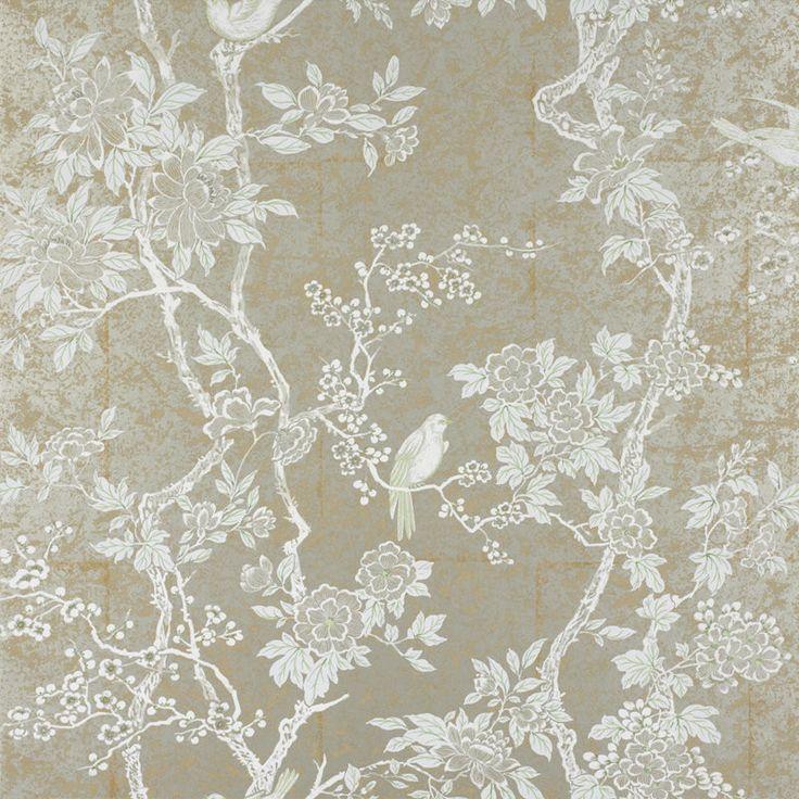 Ralph Lauren Wallpaper LWP30571W Marlowe Floral Sterling