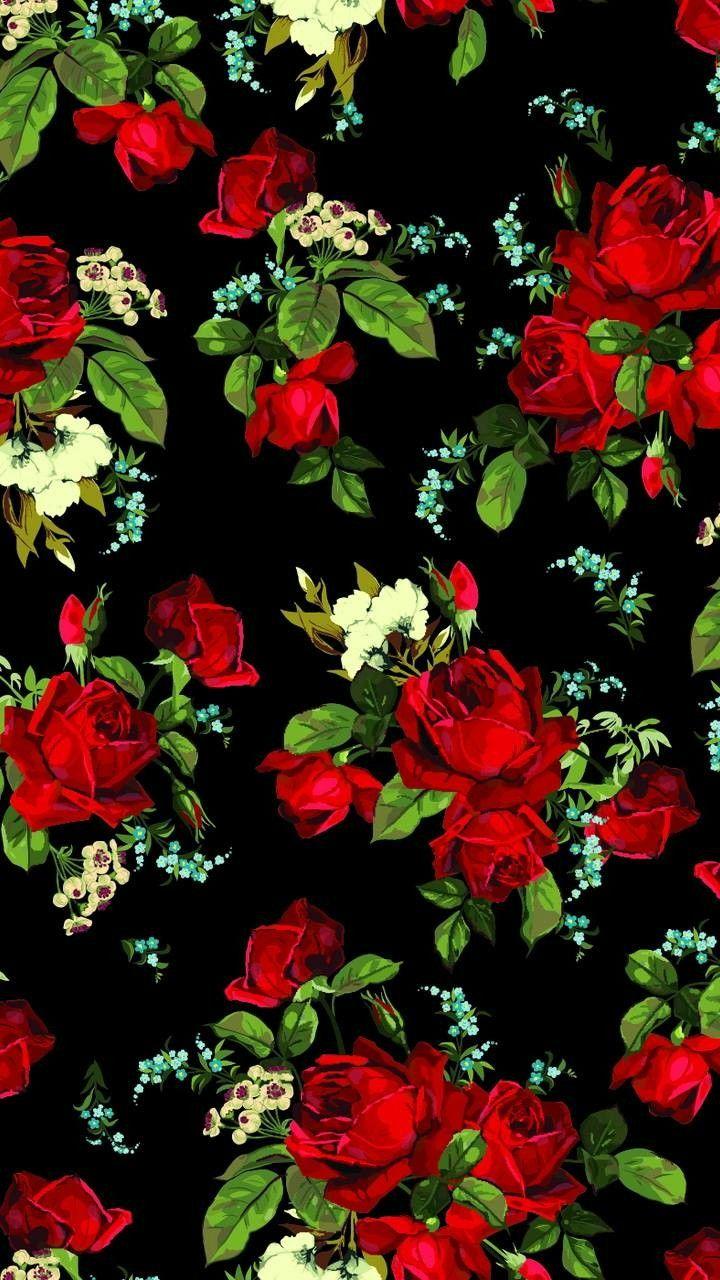 Cartoon Rose Wallpaper : cartoon, wallpaper, Wallpaper, Flowery, Wallpaper,, Flower, Background