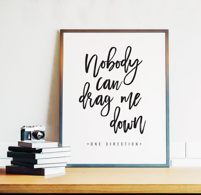 One Direction, One Direction Poster, Drag Me Down, One Direction Lyrics, Teen Room Decor, PRINTABLE Art, 8x10, Digital Download by off2market on Etsy