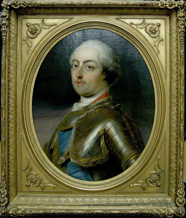 Carle van Loo - Portrait de Louis XV en cuirasse - France XVIIIe siècle - VENDU - SOLD -