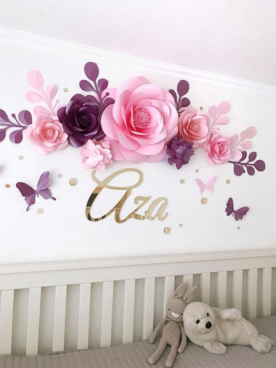 Nursery Paper Flowers Paper Flowers Over The Crib Baby Girl Room