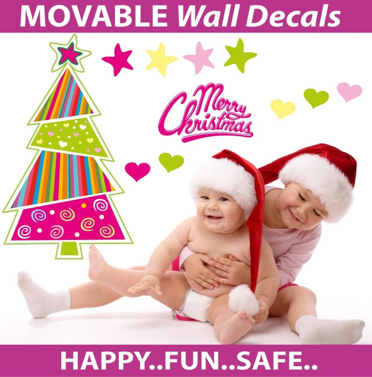 Wholesale Printers, smartwalling, wall decals - Funky Christmas Tree Wall Decal - Totally Reusable, $7.95 (http://www.wholesaleprinters.com.au/funky-christmas-tree-wall-decal-totally-reusable)