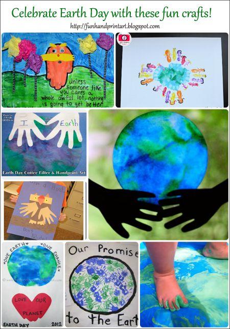 Celebrate Earth Day with Handprint Art! - Fun Handprint Art