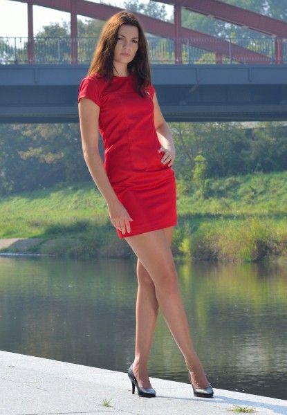 Sukienka mini Czerwona