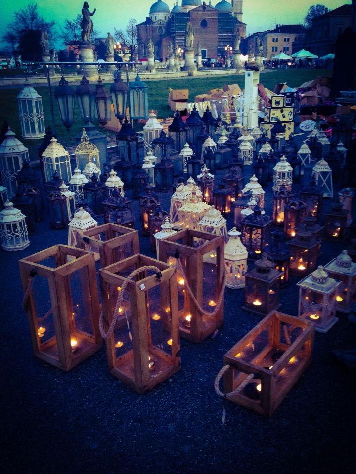 Padua, veneto, italy, beautiful history and traditions, market, lantern