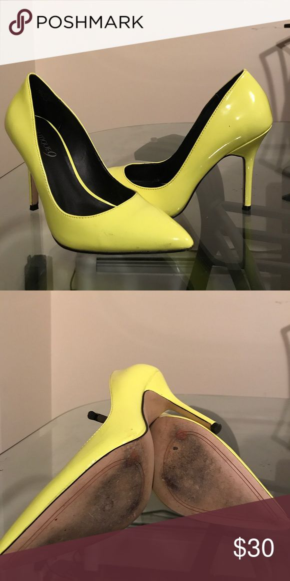 Boutique9, neon pumps Worn twice Boutique 9 Shoes Heels