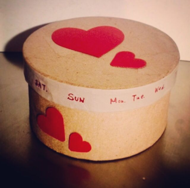Secret box #paper #box #message #valentinebox #officina14