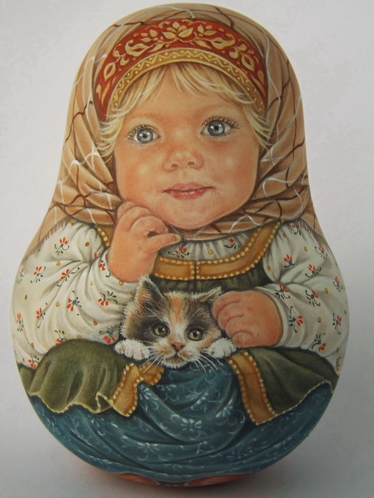 My Author's 1 Kind Russian Roly Poly Nesting Matryoshkas Dolls Artist Usachova | eBay