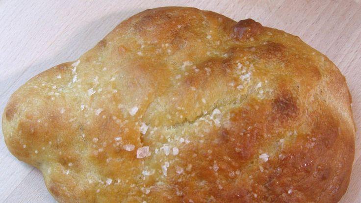 Tradisjonelle indiske brød, naan, som Anne Hjernøe baker i ovnen.