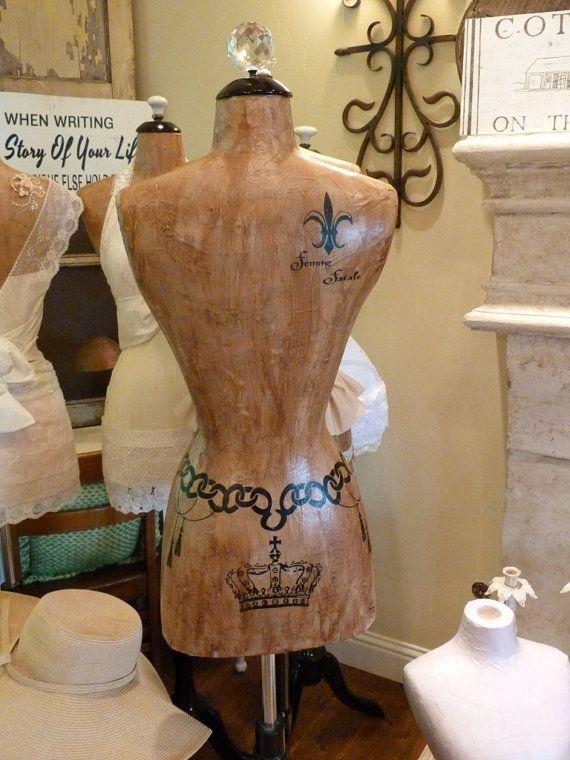 Dress Form Designer Fashion Mannequin Paris Vintage