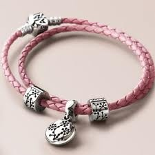 Pink Braided Cancer Bracelet - now retired sadly