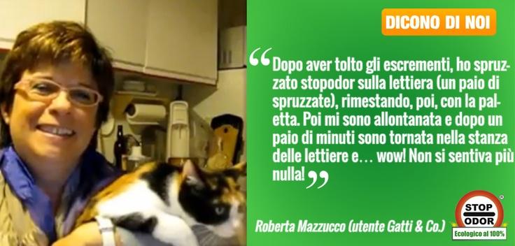 Oggi vogliamo mostrarvi la nostra dolcissima Roberta mentre ci parla di StopOdor UF2000 elimina Odori Urina Gatti.