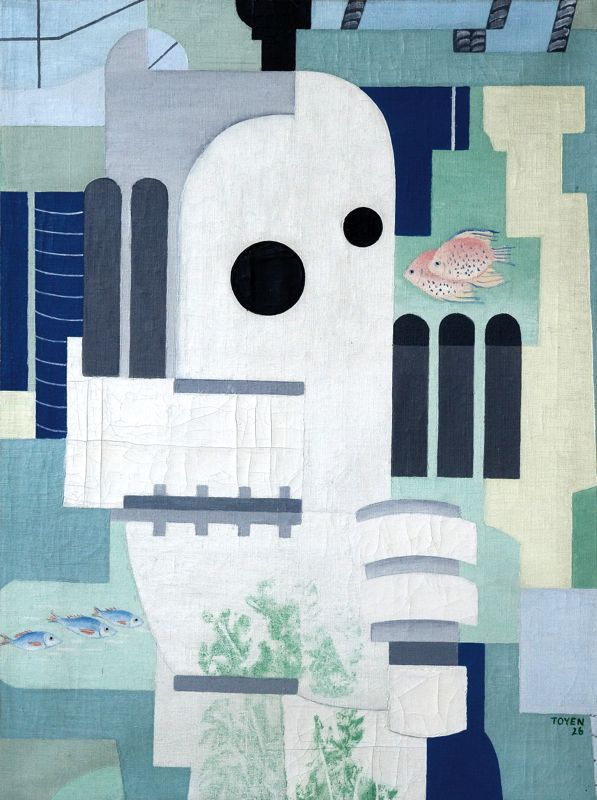 Toyen - Diver, 1926, oil on canvas