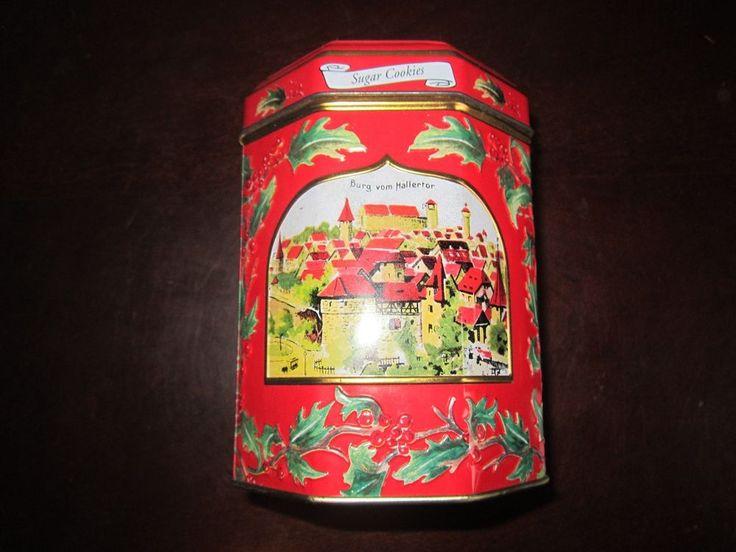 "Collectible Lambertz Aachen Sugar Cookie Tin Music Box "" - scored for 50 cents!"