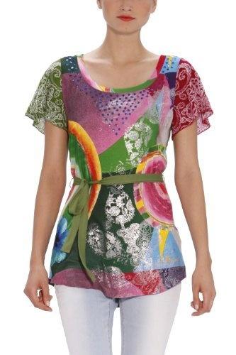 Vous aimez la mode féminine ? Retrouvez ci-dessous les meilleures ventes de la marque Desigual, collection printemps-été. Découvrez également toute l'actualité mode femme et n'hésitez pas à visiter nos boutiques Lingerie, Robe et Jeans. Livraison et retour gratuits (voir conditions).    Desigual - T-Shirt - Femme Desigual, http://www.amazon.fr/dp/B00AHPD01Y/ref=cm_sw_r_pi_dp_WKGIrb0AHFWST