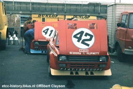 Fiat 128 coupe Scuderia Filipinetti Silverstone 1972