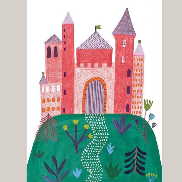 WEBSTA @ daria_solak_illustrations - Any princess here? I have home for you:) #illustration #poster #print #pink #castle #drawing #handmade #girl #kids #children #design #illustrator #instaart #art #print #artwork #instaartist #creative #fairytail #decor #kidsdesign #artsy #illustrations you can get it in @bubu.studio