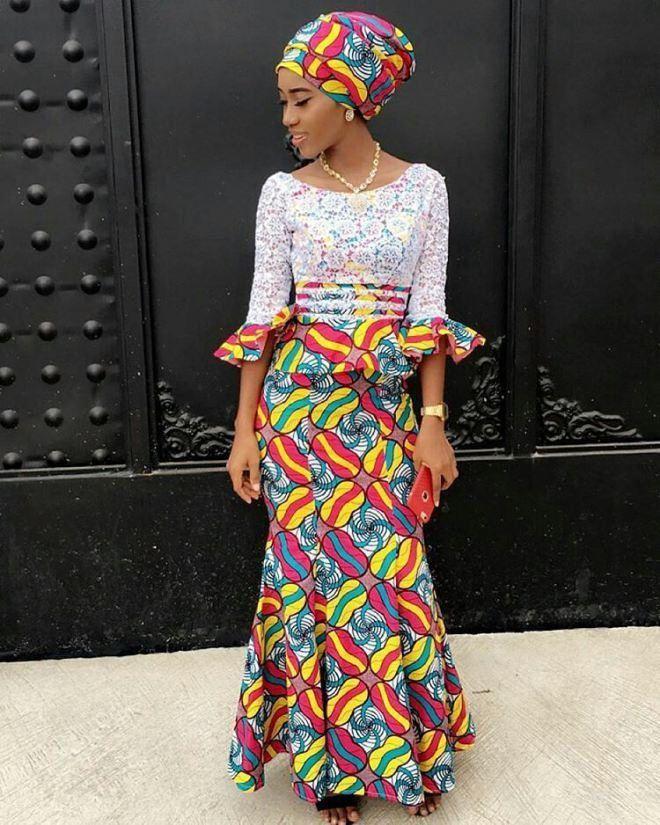 e15763178888 Best NIGERIAN STYLE ANKARA WOMEN DRESSES 2019 • stylish f9