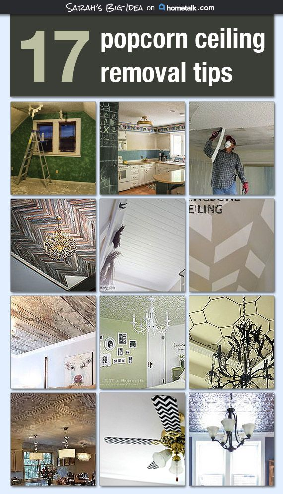 Popcorn be gone! And other awesome ceiling transformations
