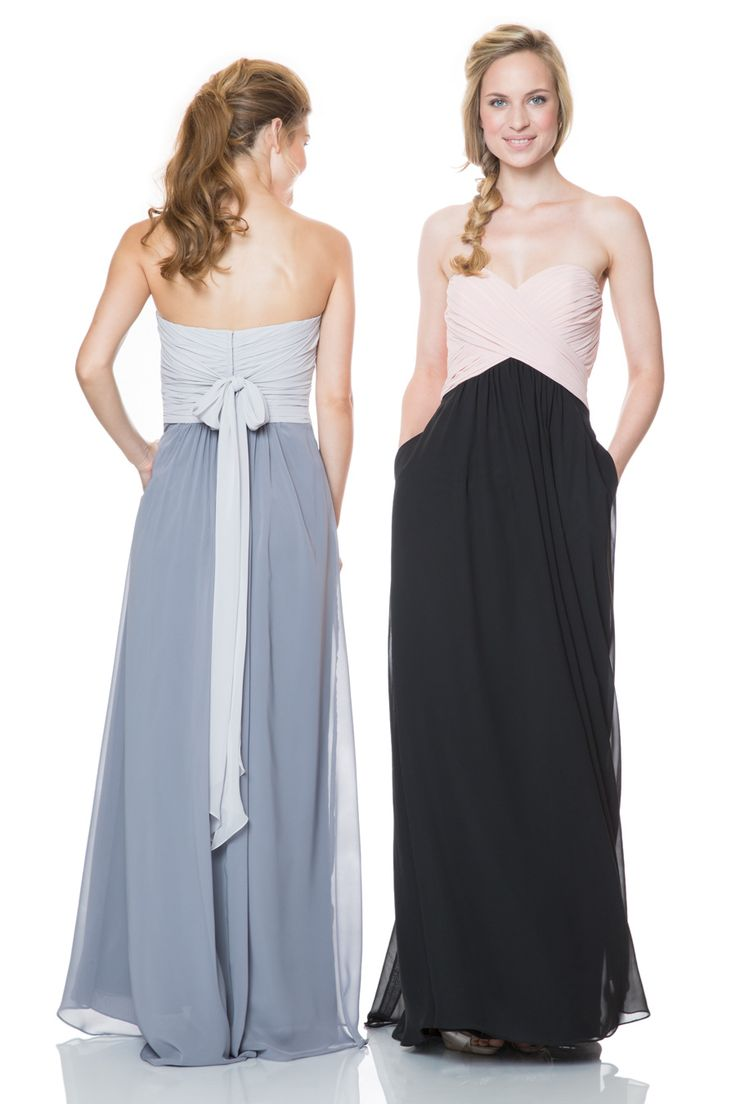 26 best two tone bridesmaid dresses images on pinterest bari jay bridesmaids bridesmaid dresses prom dresses formal gowns bari jay and ombrellifo Choice Image