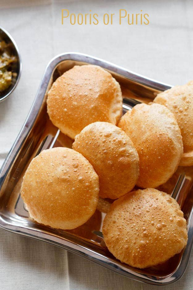 Learn how to make indian poori recipe or puri recipe, (indian flat puffed bread) step by step.