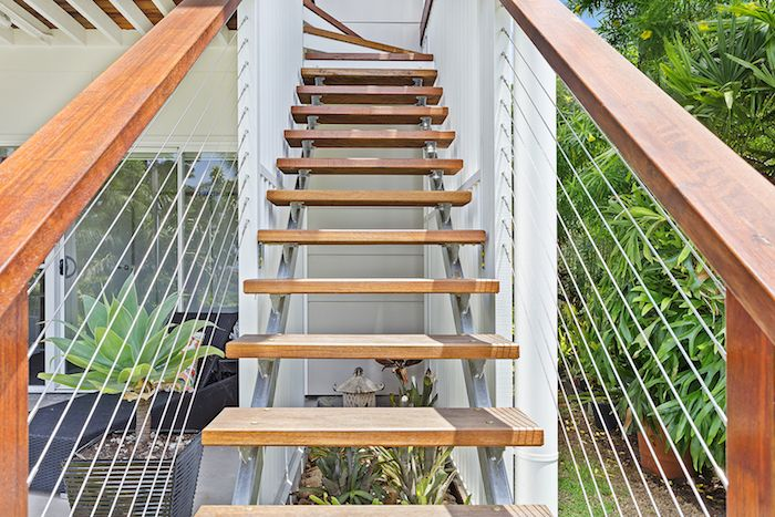 Beautiful home built by Elysium Designed using Miami Stainless products on the glass balcony and wire staircases.