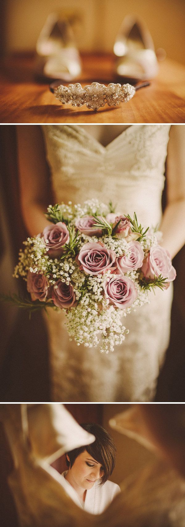 wedding flowers with gypsophila and roses mink - Google Search