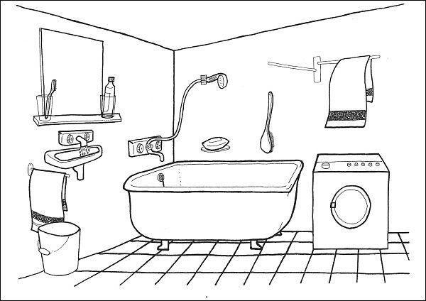 Situační obrázky - Koupelna