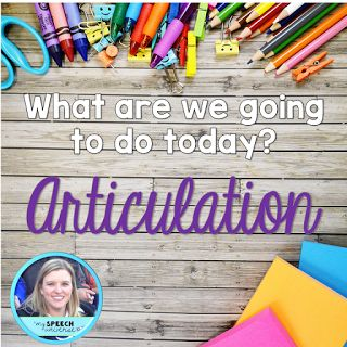 Articulation Therapy Ideas from My Speech Universe. Pinned by SOS Inc. Resources. Follow all our boards at pinterest.com/sostherapy/ for therapy resources.
