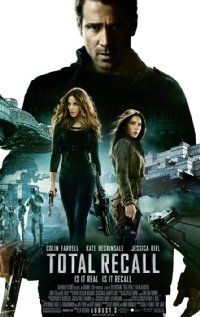 TOTAL RECALL. Director: Len Wiseman. Year: 2012. Cast: Collin Farrell, Kate Beckinsale, Jessica Biel.
