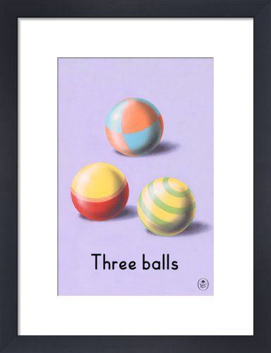 Three balls by Ladybird Books' - art print from King