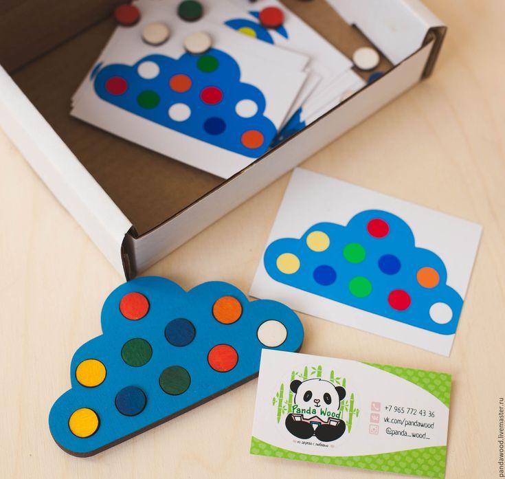 """Купить Набор """"Облако"""" - комбинированный, игрушки монтессори, игры из дерева, заказать монтессори, заказать развивашки"""