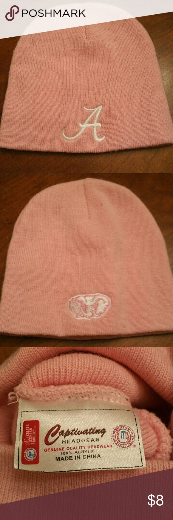 University of Alabama Pink Game Cap Warm pink UA cap, ready for the game! Captivating Accessories Hats