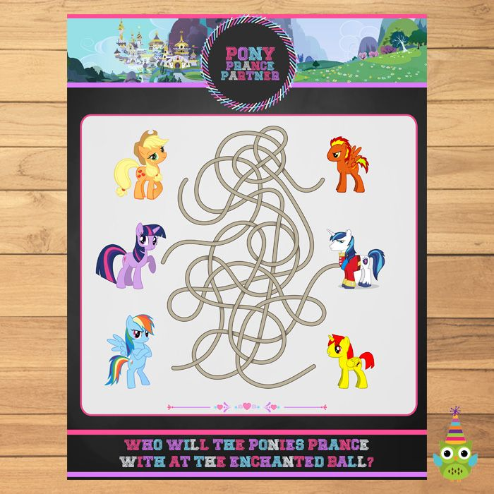 17 best My Little Pony Printables Chalkboard images on Pinterest