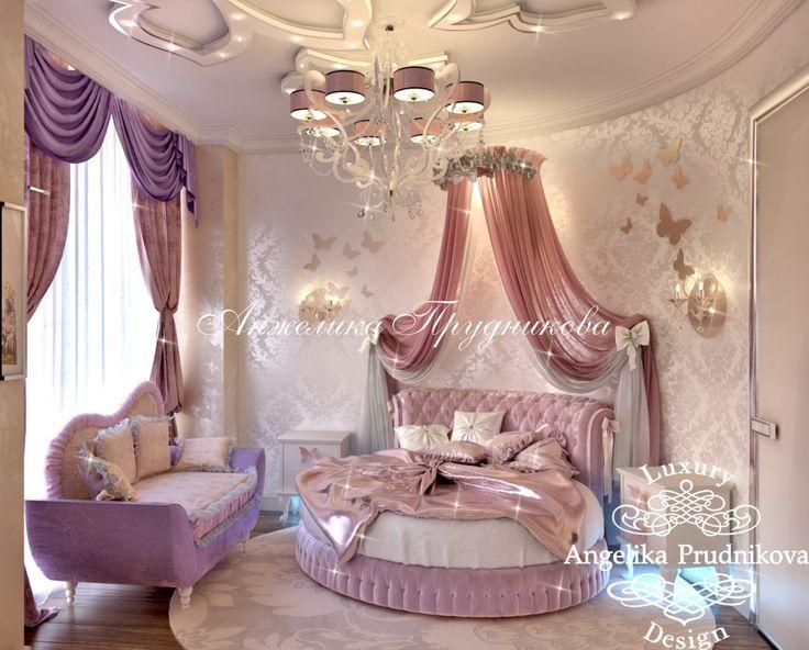 Дизайн розовой спальни для девочки. Сказочный интерьер для маленькой принцессы.. Фото 2016 - Дизайн детской