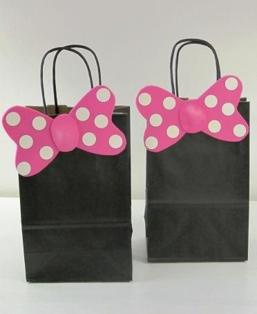 you could use red bags and black ears
